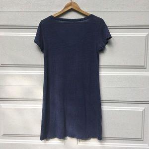 Eileen Fisher Dresses - Eileen Fisher T-Shirt Dress Blue Petite Linen Top